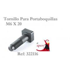 TORNILLO PARA PORTABOQUILLAS M6 X 20